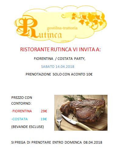 Festa della Fiorentina-Costata a Rutina - sabato 14.04.2018